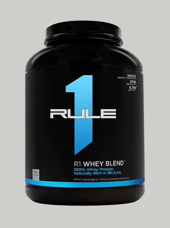 Rule 1 Whey Blend Protein Chocolate Fudge 5.2 lbs