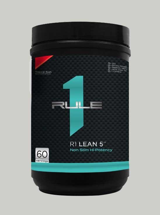 Rule 1 Lean 5 Non-Stim Fat Burner 60 Serving Tropical Rush 336 g