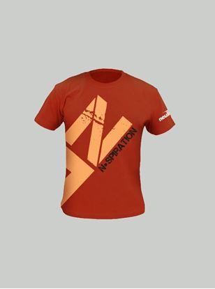 Nspiration Mens T-Shirt Rust-Beige Logo L