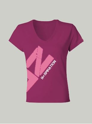 Nspiration Womens Tee Magenta with Pink Logo 36