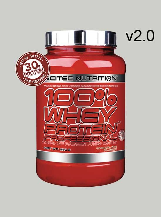 Scitec 100% Whey Protein Professional Chocolate 2 lbs v2.0