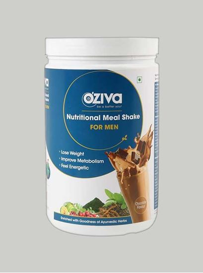 Picture of OZiva Nutritional Meal Shake Men High Protein Meal Replacement Chocolate 2.2 Lbs