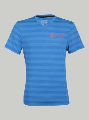 Picture of ROCCLO - Men's T-Shirt Light&Dark Blue Size XXL -5052
