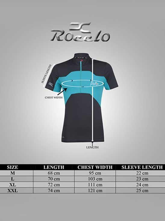 Picture of ROCCLO - Half ZIP T-Shirt Navy&Sky Blue Size XXL - 5056