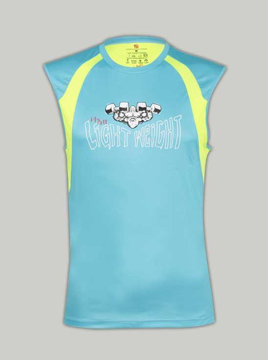 Picture of Ronnie Coleman - Men's T-Shirt Aqua Blue Size M - 5058