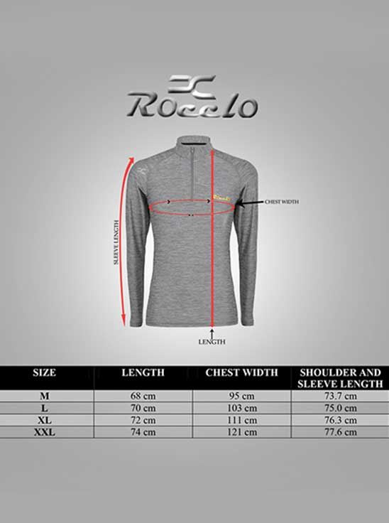 Picture of ROCCLO - Men's Grey Color T-Shirt Size M -5072