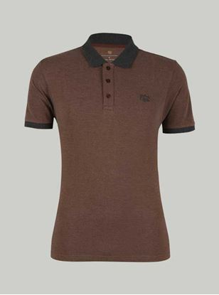 Picture of ROCCLO - Men's  T-Shirt Chocolate Brown Size XXL -5080