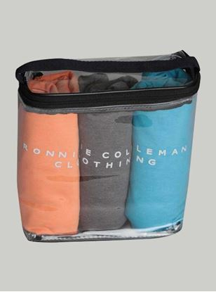 Picture of ROCCLO - T-Shirt (Orange/Grey/Blue)Pack of 3 Size M -5083