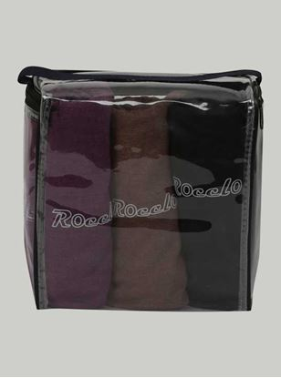 Picture of ROCCLO - T-Shirt (Burgundy/Brown/Black) Pack of 3 Size XL