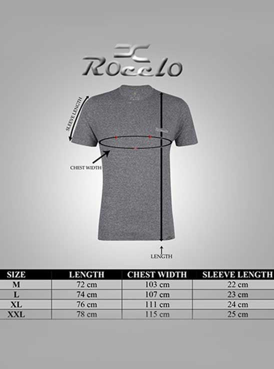 Picture of ROCCLO - Men's T-Shirt Grindlilled Grey Size XXL -5089