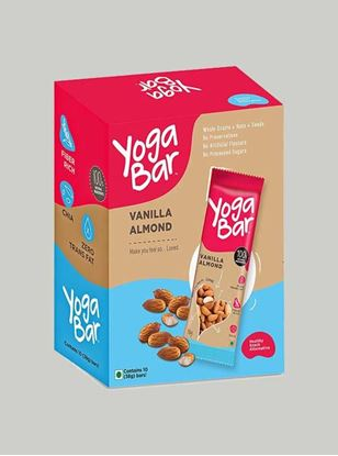 Picture of Yogabar - 100% Natural Energy Bar - Vanilla Almond - 10 Piece(s)/Pack