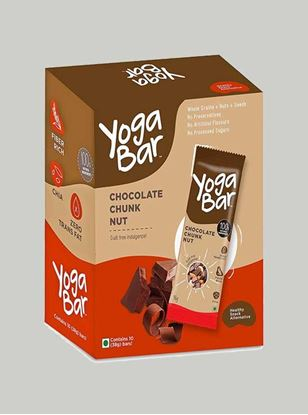 Picture of Yogabar - 100% Natural Energy Bar - Chocolate Chunk - 10 Piece(s)/Pack