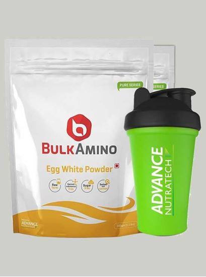Picture of Advance Nutratech - BulkAmino Egg White Unflav 500g -Shaker