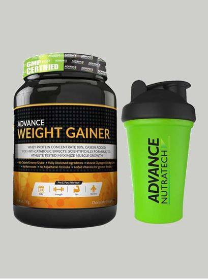 Picture of Advance Nutratech - Advance Weight Gainer Choco 2.2 Lbs -Shaker