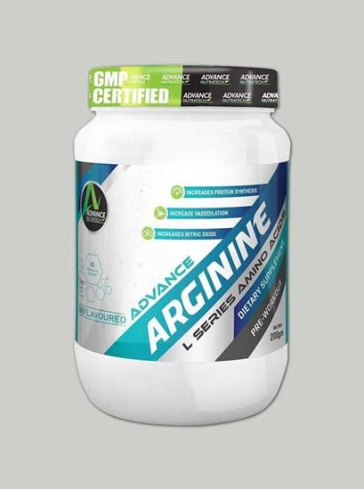 Picture of Advance Nutratech - Arginine 200 Grams Unflavoured Raw Pwd