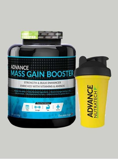 Picture of Advance Nutratech -Mass Gain Booster Choclate 8.8Lbs-Shaker