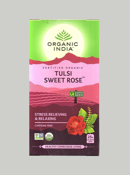 Picture of Organic India-  Tulsi Sweet Rose 25 Tea Bags