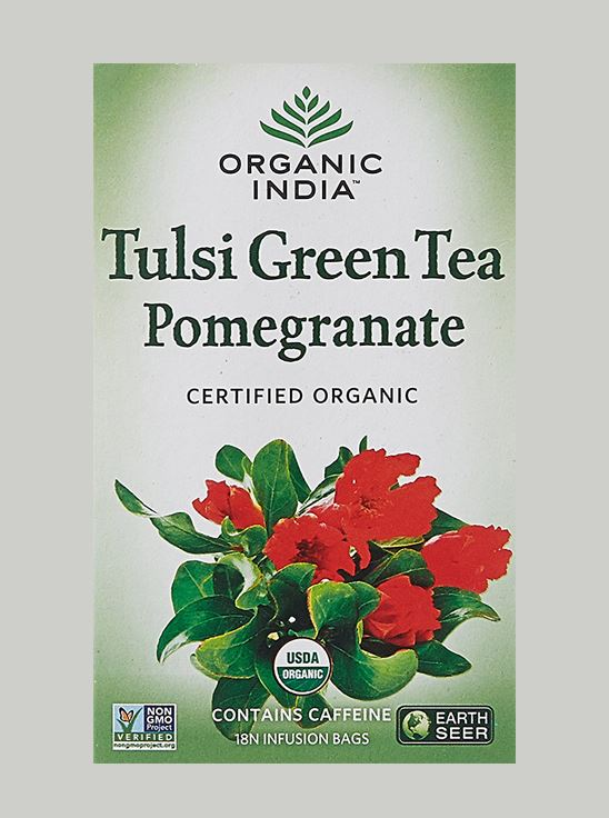 Picture of Organic India-  Tulsi Green Tea Pomeogranate  25 Tea Bags