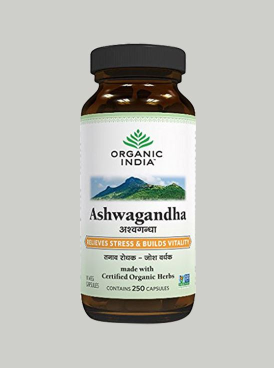 Picture of Organic India- Ashwagandha 60 Capsules Bottle