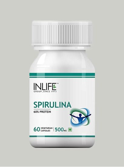 Picture of INLIFE- Spirulina 500mg 60 Caps