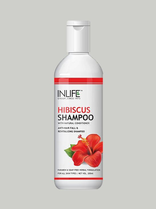 Picture of INLIFE- Natural Hibiscus Anti Hair Fall Shampoo 200 ml Soap