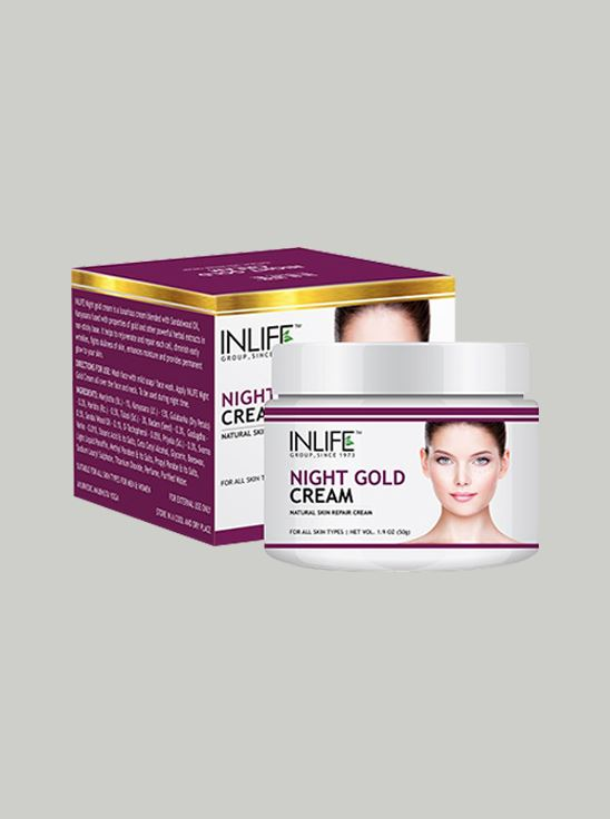 Picture of INLIFE- Natural Night Gold Cream 50 gm Skin Whitening
