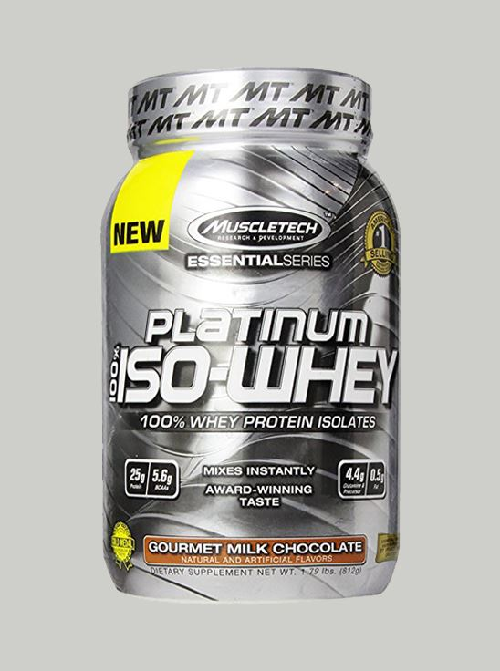 Picture of Muscletech Platinum 100% ISO Whey Milk Chocolate 1.79 lbs