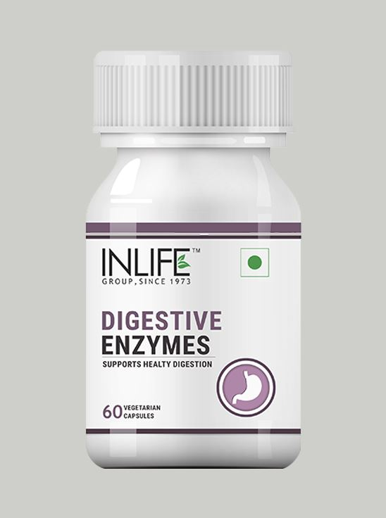 Picture of INLIFE Digestive Enzymes Supplement - 60 Vegetarian Capsules