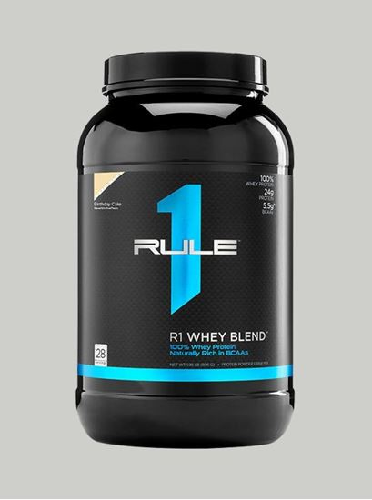 Picture of Rule 1 Whey Blend Protein Birthday Cake 2 lbs