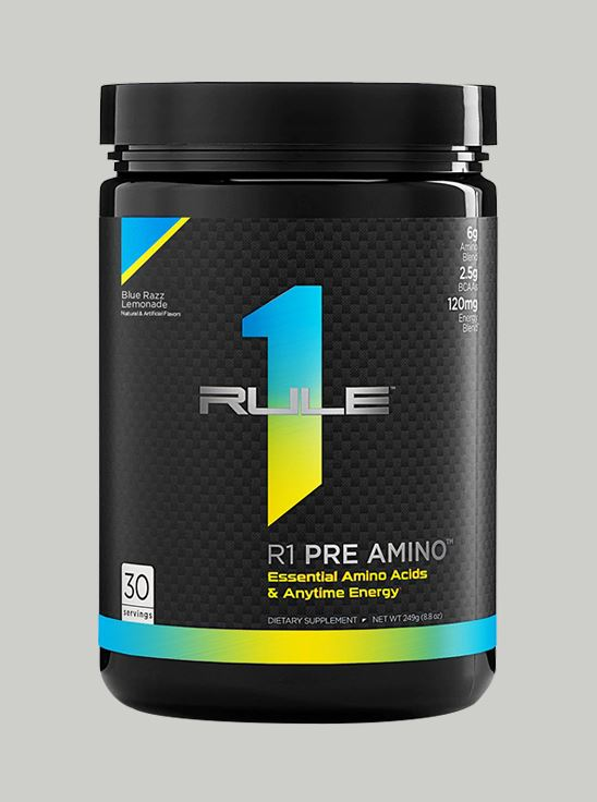 Picture of Rule 1 Pre-Amino Blue Razz Lemonade 30 Servings