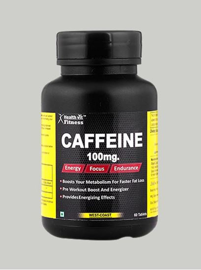 Picture of Healthvit Fitness Caffeine 100 mg 60 Tablets