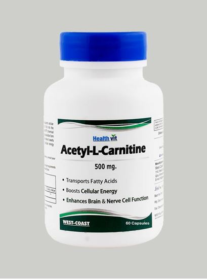 Picture of Healthvit Acetyl-L-Carnitine 500 mg 60 Capsules