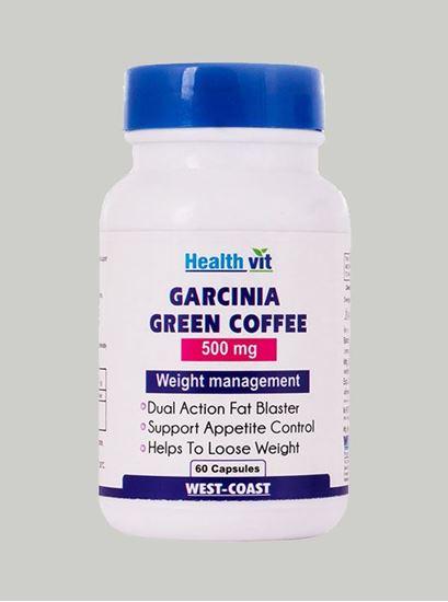 Picture of Healthvit Garcinia Cambogia+Green Coffee 500 mg 60 Capsules
