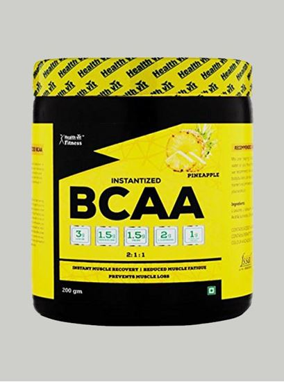 Picture of Healthvit Fitness BCAA 6000 Pineapple 25 Servings 200 gms