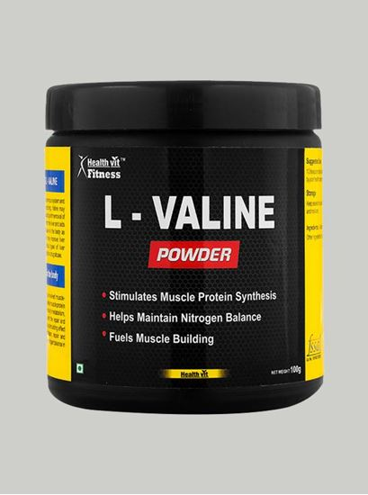 Picture of Healthvit Fitness L-Valine Powder 100 gm