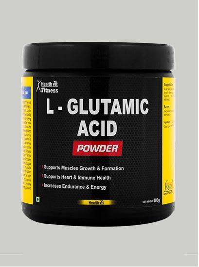 Picture of Healthvit Fitness Glutamic Acid Powder 100 gm