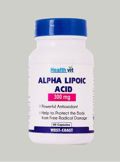 Picture of Healthvit Alpha Lipoic Acid 300 mg 60 Capsules