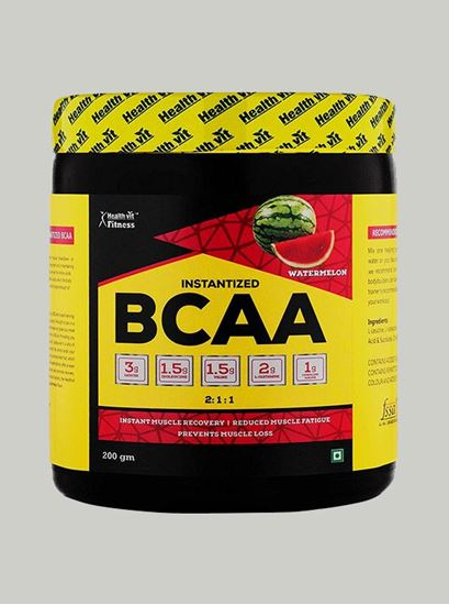 Picture of Healthvit Fitness BCAA 6000 Watermelon 25 Servings 200 gms