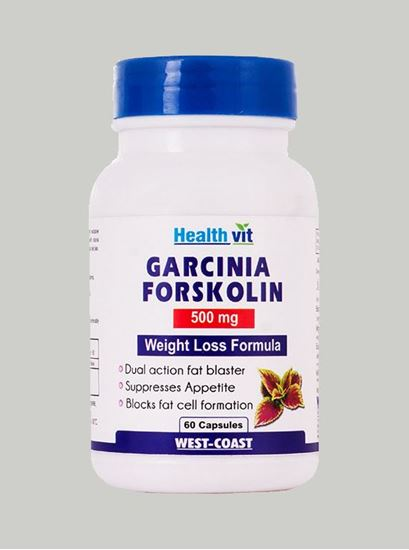 Picture of Healthvit Garcinia Forskolin 500 mg Extract 60 Capsules