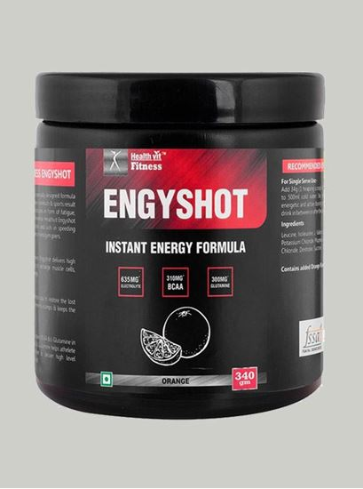 Picture of Healthvit Engyshot Instant Energy Drink Orange 340 gm