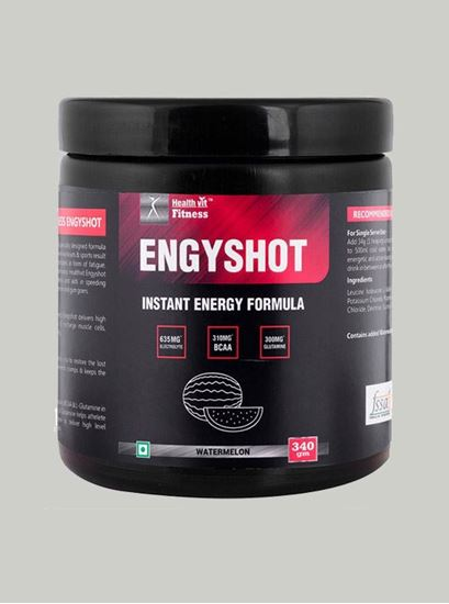Picture of Healthvit Engyshot Instant Energy Drink Watermelon 340 gm