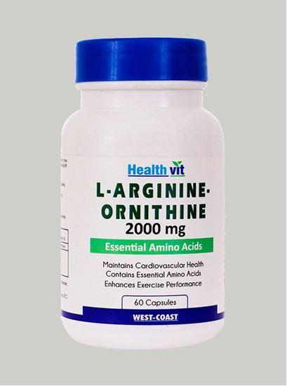Picture of Healthvit L-Arginine-Ornithine 2000 mg 60 Capsules