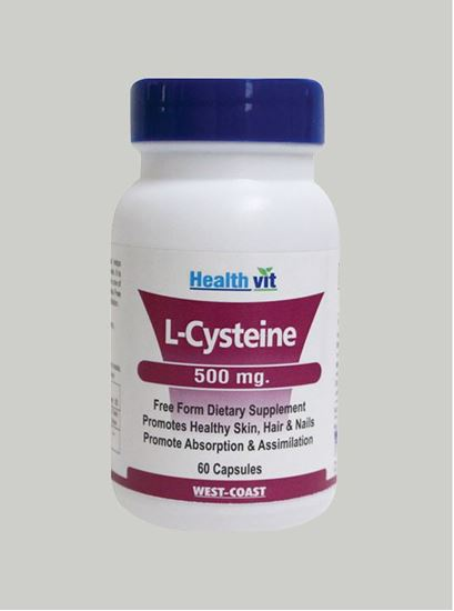 Picture of Healthvit L-Cysteine 500 mg 60 Capsules