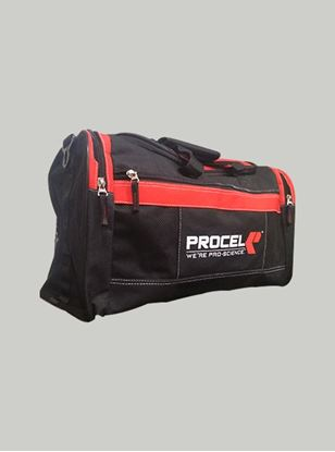 Picture of Procel Duffle Gym Bag Black-Red with 3 Side Logo