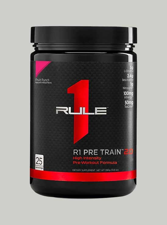 Picture of Rule 1 Pre Train 2.0 Pre-Workout 25 Serving Fruit Punch 388 g