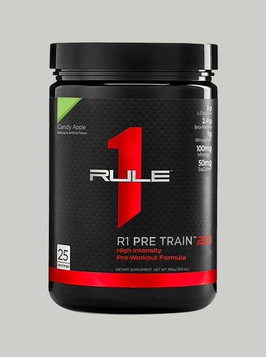 Picture of Rule 1 Pre Train 2.0 Pre-Workout 25 Serving Candy Apple 388 g