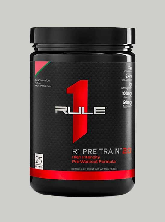 Picture of Rule 1 Pre Train 2.0 Pre-Workout 25 Serving Watermelon Splash 388g