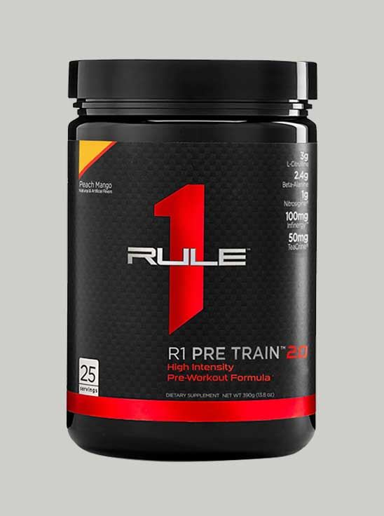 Picture of Rule 1 Pre Train 2.0 Pre-Workout 25 Serving Peach Mango 388 g