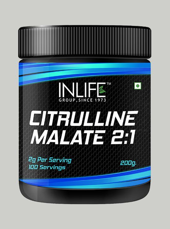 INLIFE Micronized Citrulline Malate Powder 2:1 Supplement 200 grams