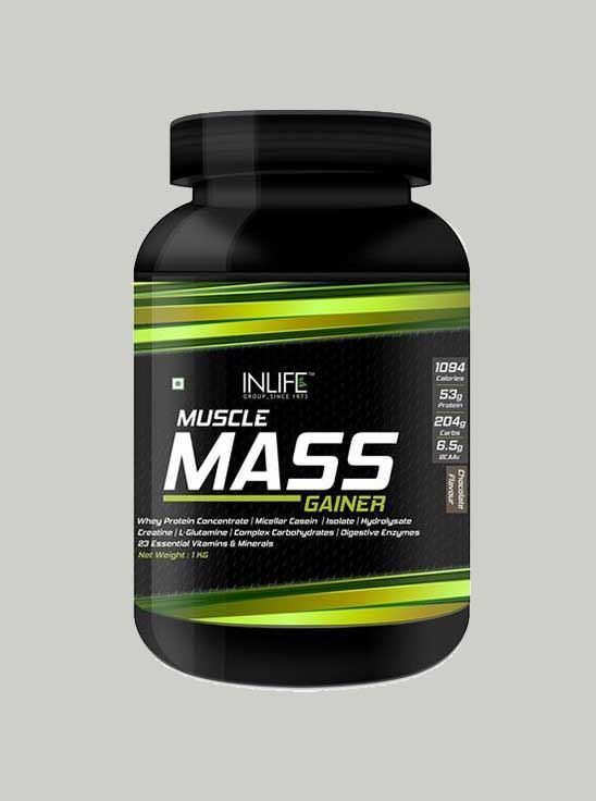 b868f499eb2 Picture of INLIFE Muscle Mass Gainer Protein Powder with Whey Protein -1 Kg  (Chocolate ...